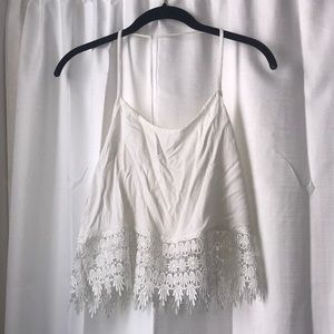 Solemio White Crochet Top